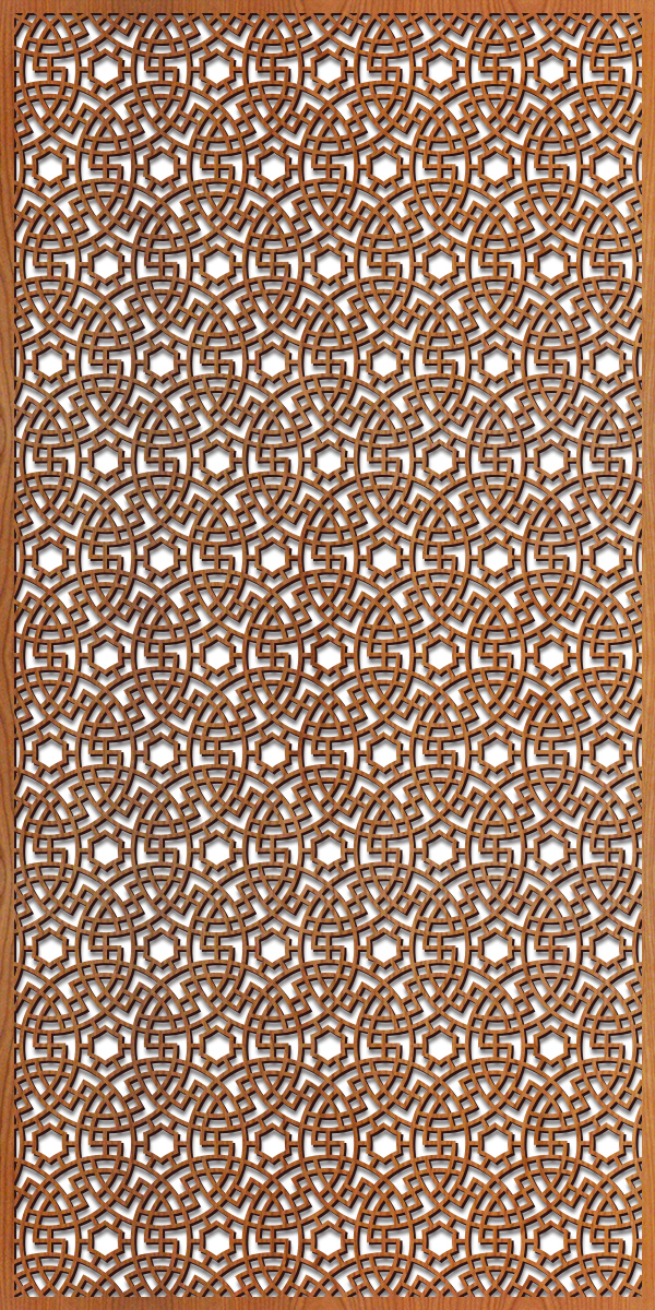 Persian Circles pattern at 4' x 8' scale
