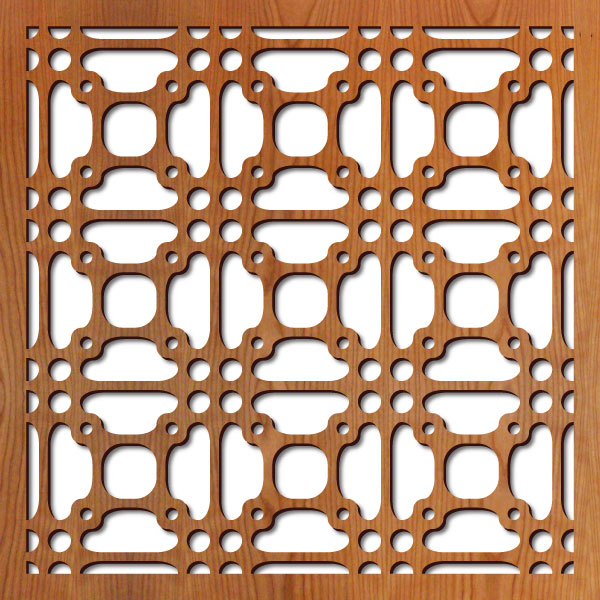 """Perry Grille pattern at 23"""" x 23"""" scale"""