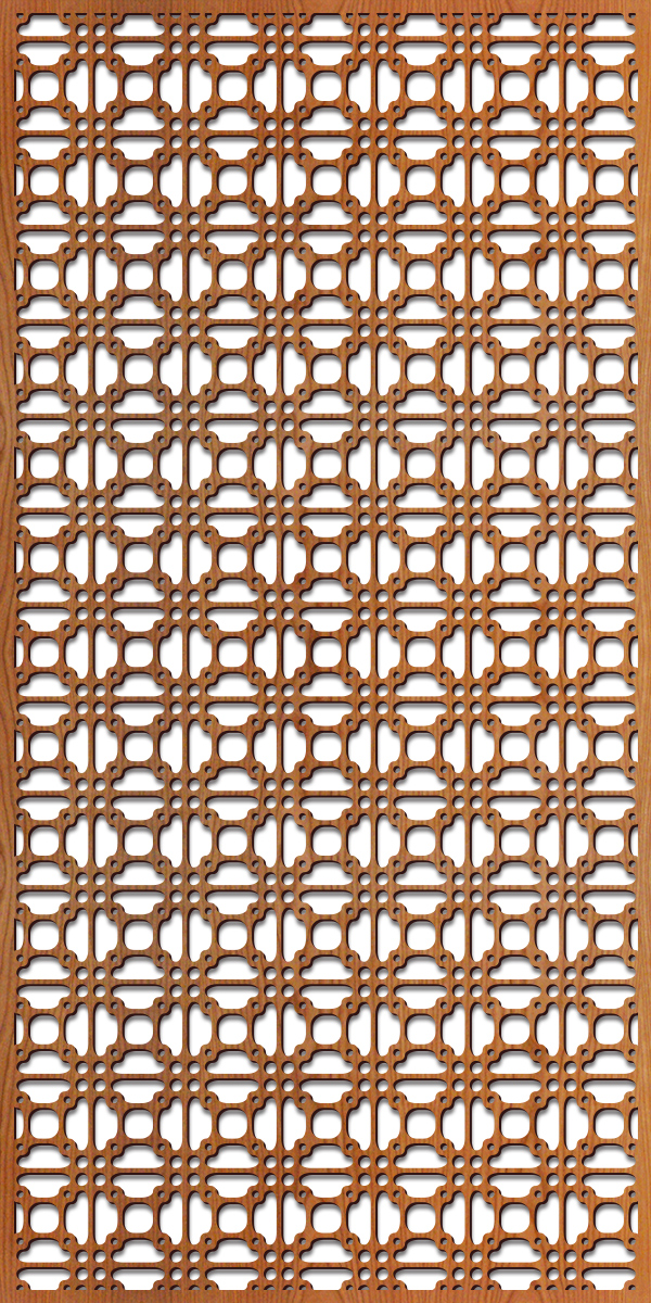 Perry Grille pattern at 4' x8' scale