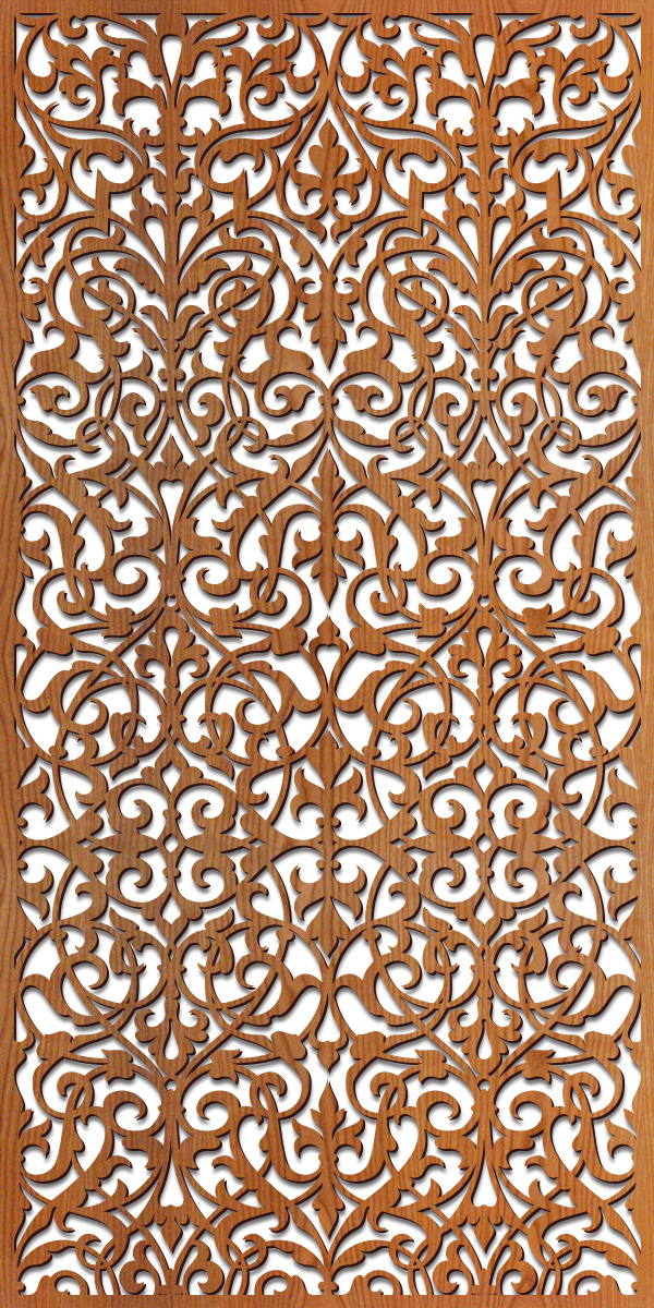 Ornate Damask Laser Cut Pattern Lightwave Laser