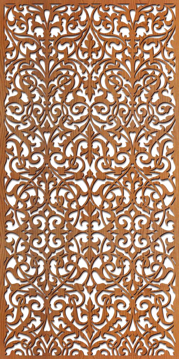 Ornate Damask pattern at 4' x 8' scale