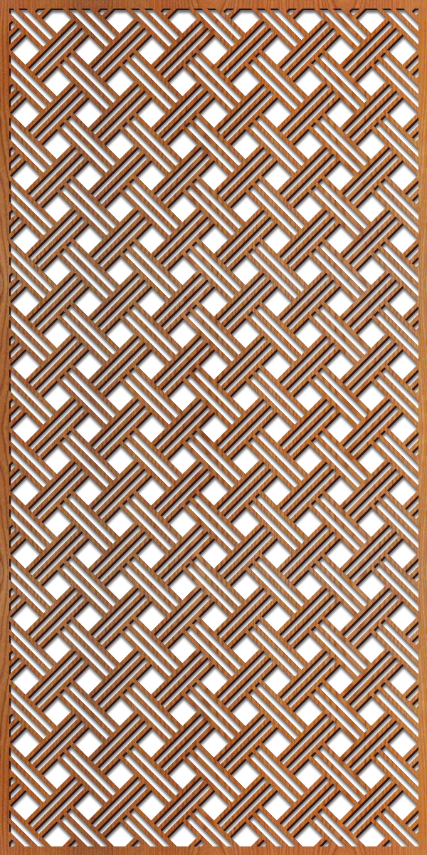 Open Basketweave pattern at 4' x 8' scale