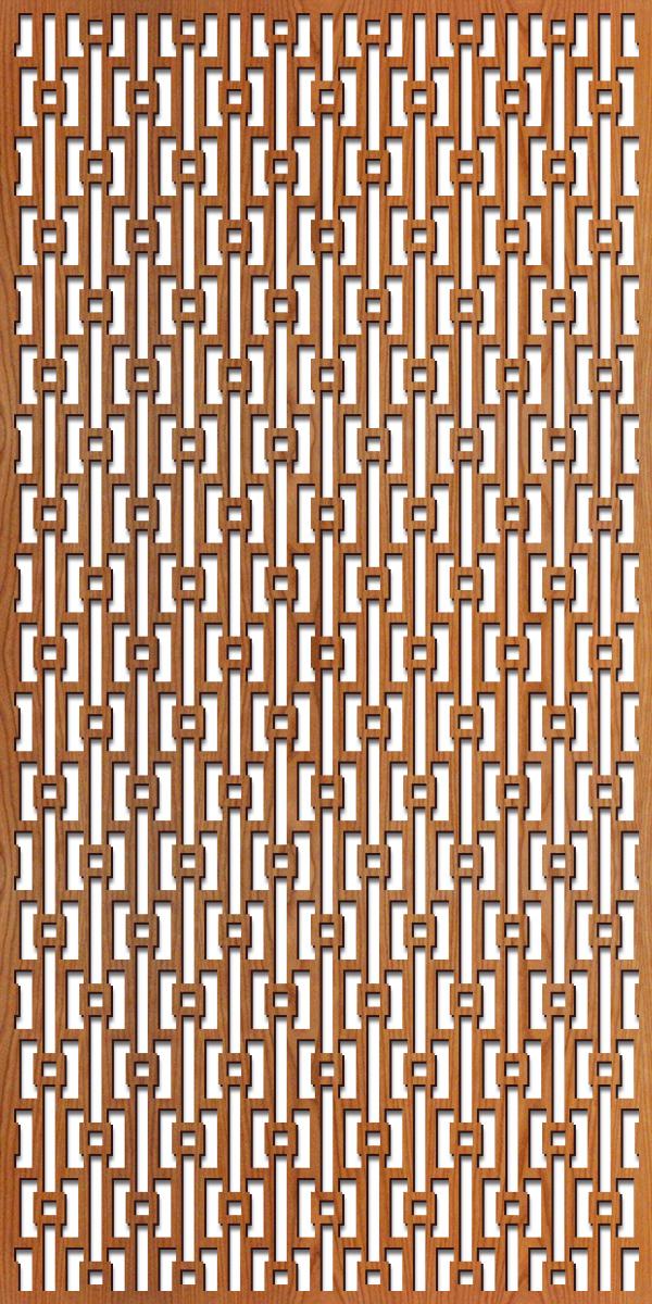 Mod Geometric pattern at 4' x 8' scale