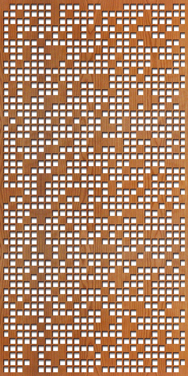 Pixel pattern at 4' x 8' scale