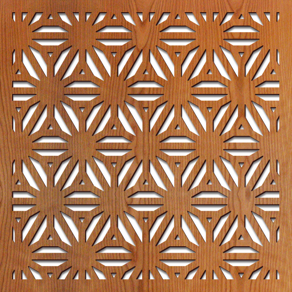 "Reverse Flower Thick pattern at 23"" x 23"" scale"