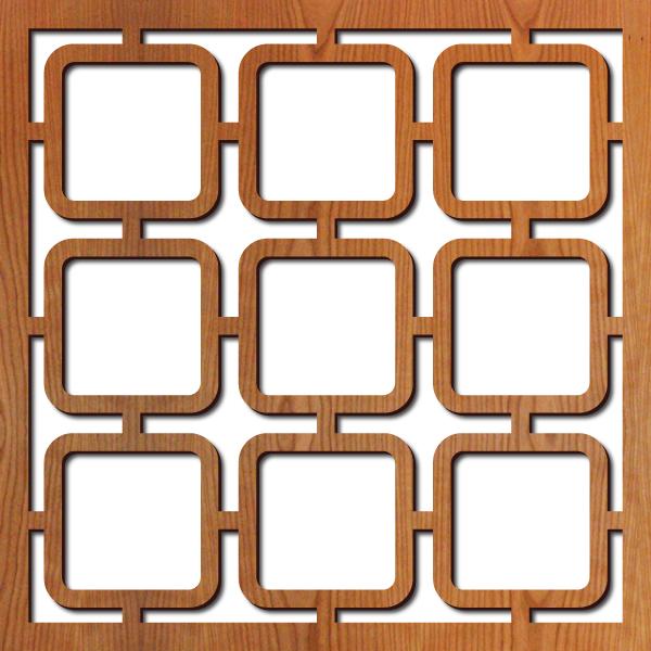 """Square Mezzo pattern at 23"""" x 23"""" scale"""