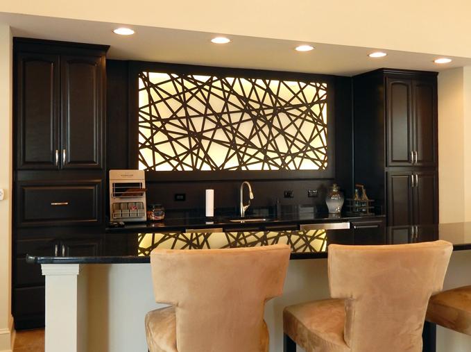 Barrett Design   Palomar, back lit bar panel