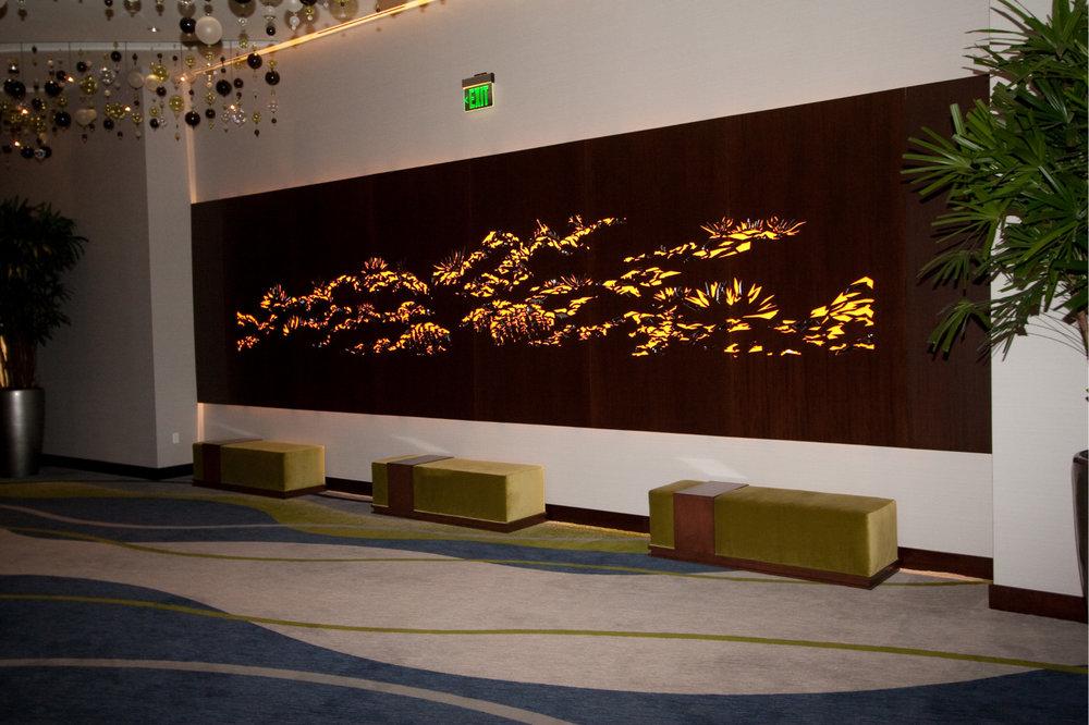 Vdara City Center, Las Vegas, NV   Custom Pattern, back lit panel