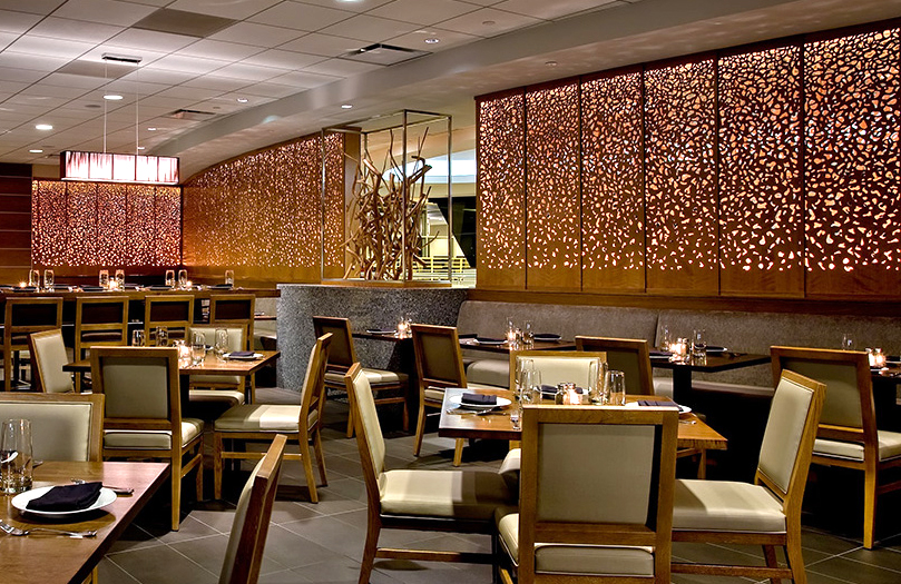 Crowne Plaza O'hare Hotel, Chicago, IL   Dappled Light, back lit panels
