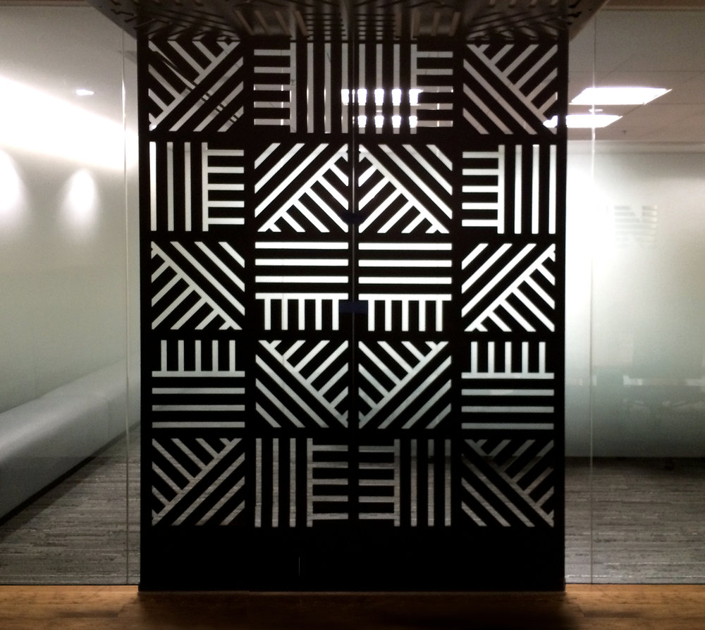 Skyline Construction   Custom Pattern, Wall Partition