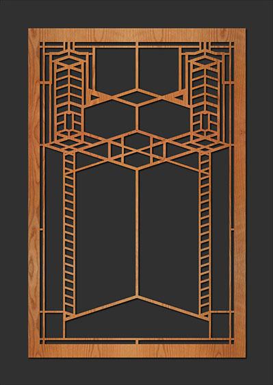 Frank Lloyd Wright Robie House Element Lightwave Laser