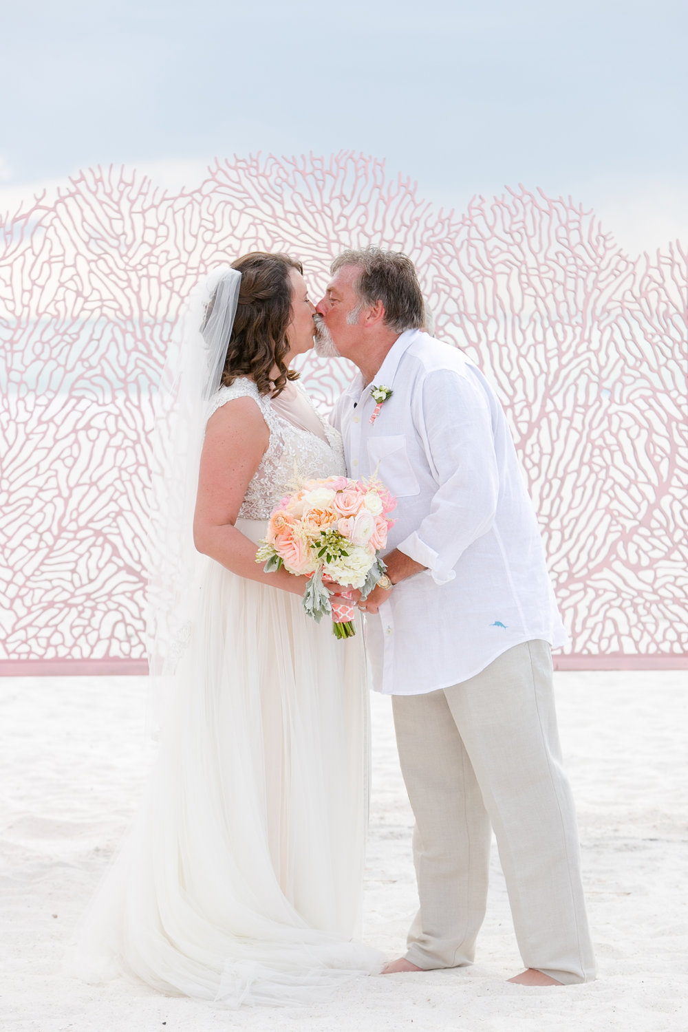 JW Marriott Marco Island Beach Resort  - Marco Island, FL  Sea Fan, decorative wedding backdrop panel