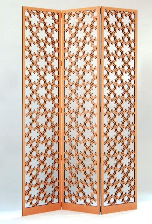 Woven Flowers pattern, floor screen