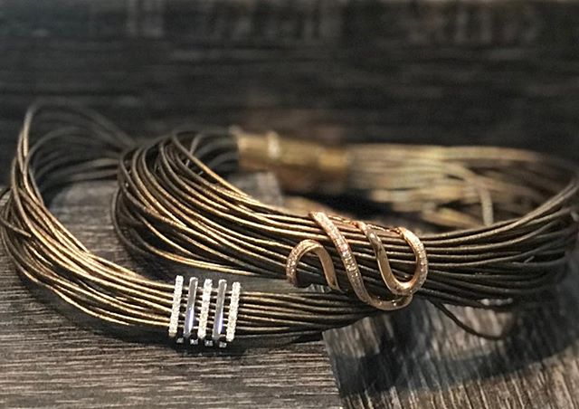 You won't want to miss these bracelets. #gold#diamonds#leather#Princeton#shopsmall