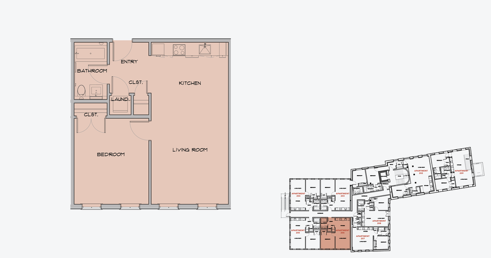 APARTMENT 206  1 BEDROOM, 1 BATH   APPLY NOW