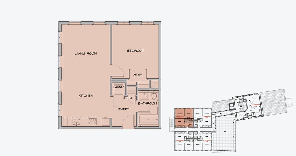 APARTMENT 304  1 BEDROOM, 1 BATH   APPLY NOW