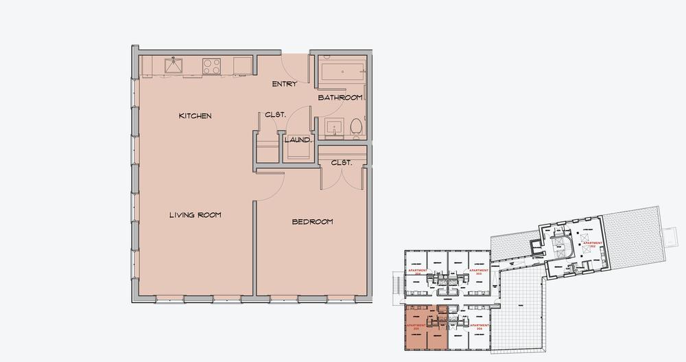 APARTMENT 305  1 BEDROOM, 1 BATH   APPLY NOW