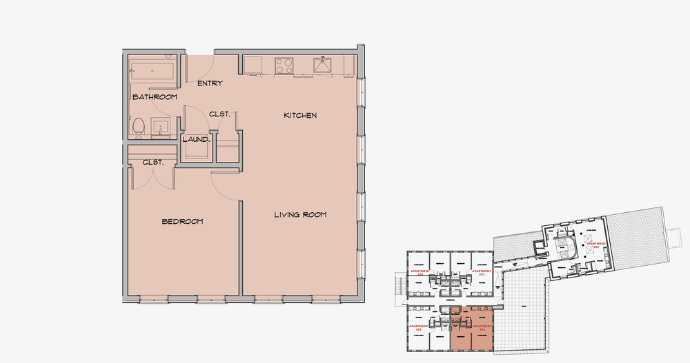 APARTMENT 306  1 BEDROOM, 1 BATH   APPLY NOW