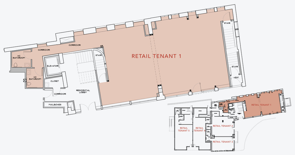 RETAIL TENANT 1  1,700 SF    APPLY NOW