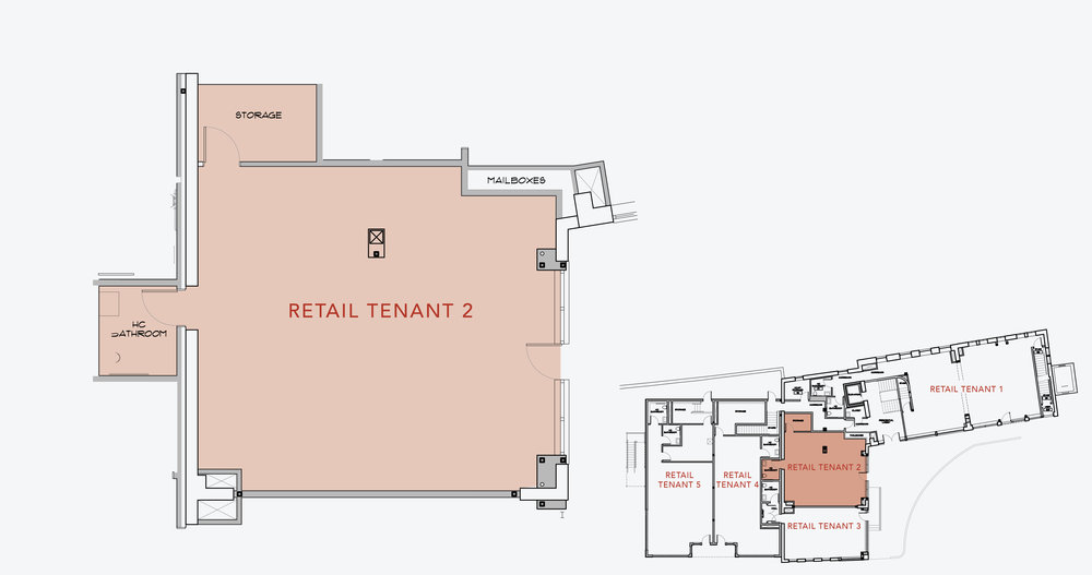 RETAIL TENANT 2  1,000 SF    APPLY NOW