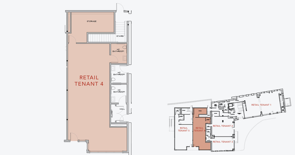 RETAIL TENANT 4  1,100 SF    APPLY NOW