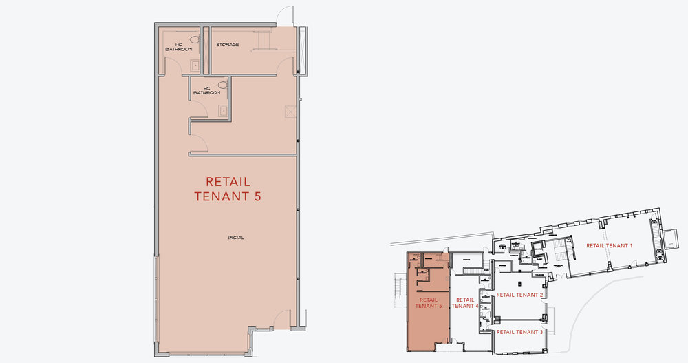 RETAIL TENANT 5  1,400 SF    APPLY NOW