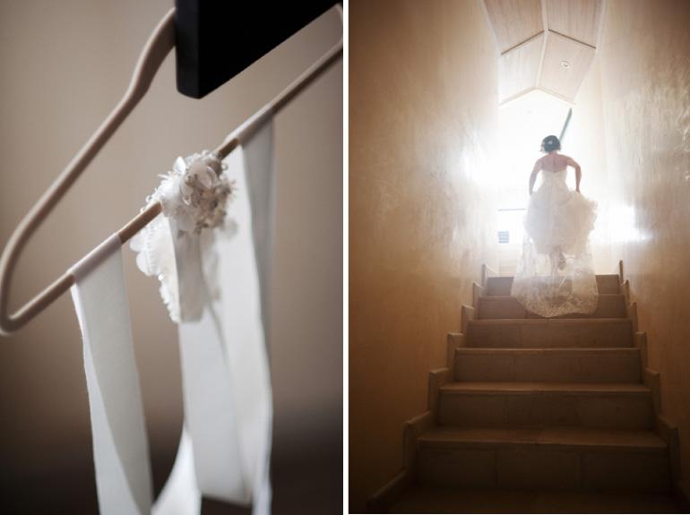 Dreamy Bride in stairway
