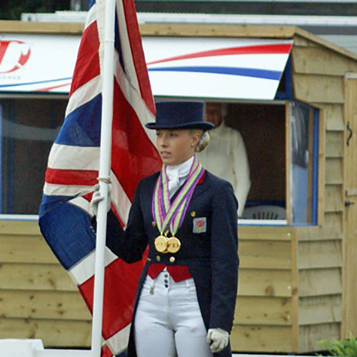 Sophie with the Union flag