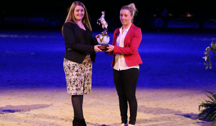 Sophie receiving Equestrian of the Year Award
