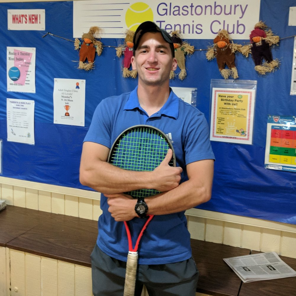 TIM HENNESSEY   Tim began coaching tennis as a volunteer assistant at Lyman Memorial High School in Lebanon and started an internship at GTC in 2016 where he did an amazing job. In addition to coaching high school players Tim has been teaching tennis to children and adults of all ages and abilities in Glastonbury and West Hartford. Tim began teaching children and adults at GTC in the spring of 2017.