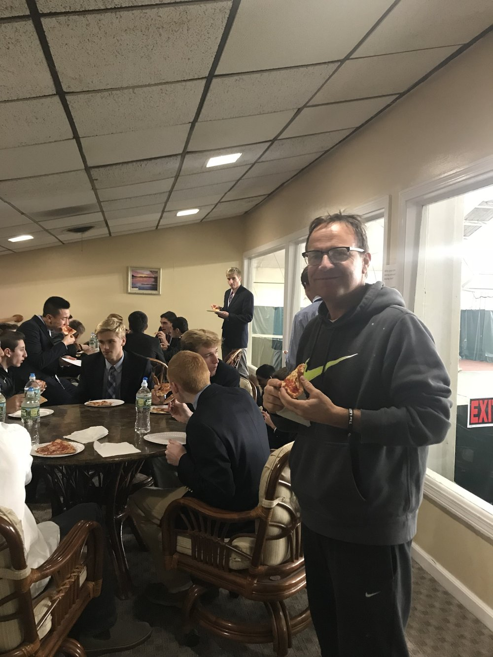 From a pizza party for the Glastonbury High School Soccer Team after winning the 2017 State Championships