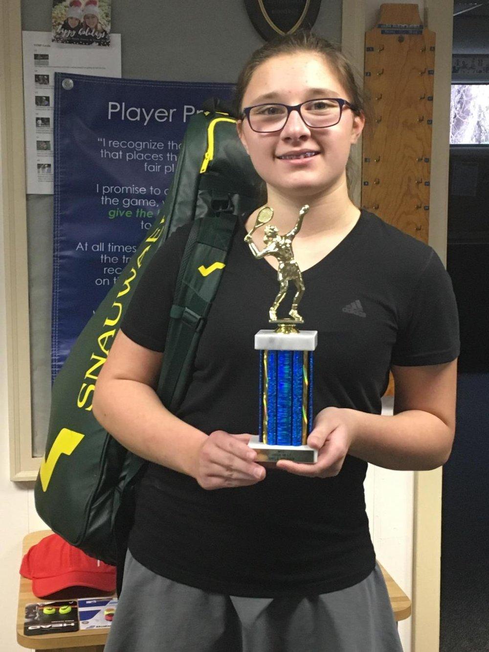 1st place USTA L7 - Catherine Zak