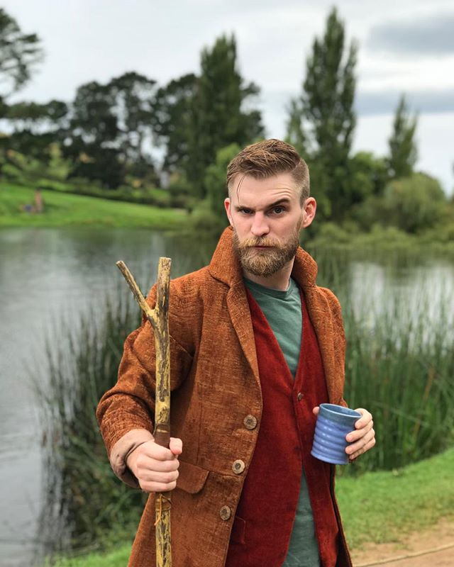 #waybackwednesday to that glorious 4 months in Australia. This is me at a modeling gig for a new line of walking sticks. The apparel is my own. The company has since gone out of business. Also, the Blue cup in my hand signified the #BlueWave that we all knew was only months away. Was that a stretch for an excuse to post this the day after #electionday? Yes, yes it was. But well done America, you didn't stick the landing but you genuinely showed up and tried your best.