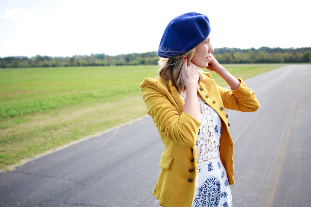 modcloth, nordstrom, new balance, j crew, fall fashion, fall transition outfits, rag pepper, band jacket, beret