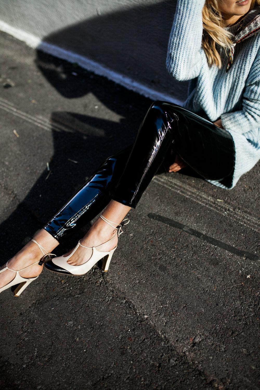 chanel mules black vinyl pants topshop.jpg