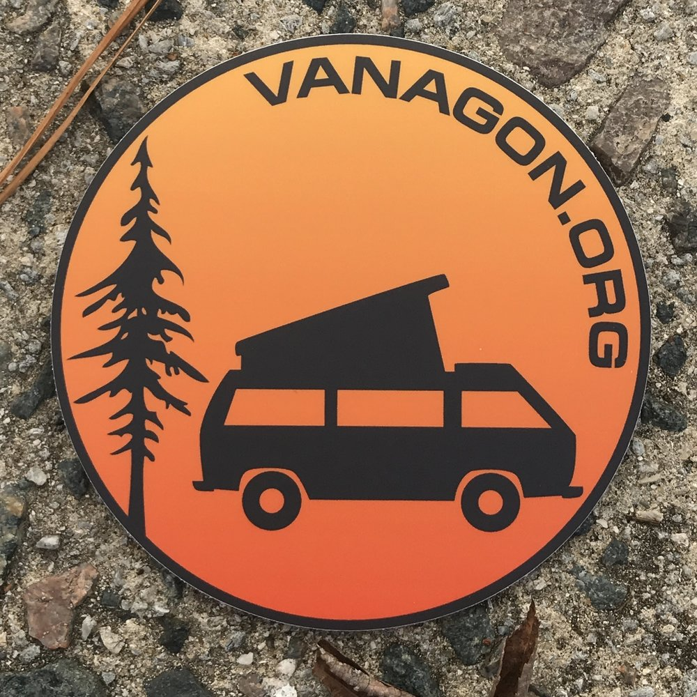 Store 1983 Volkswagen Vanagon Repair Manual Logo Sticker