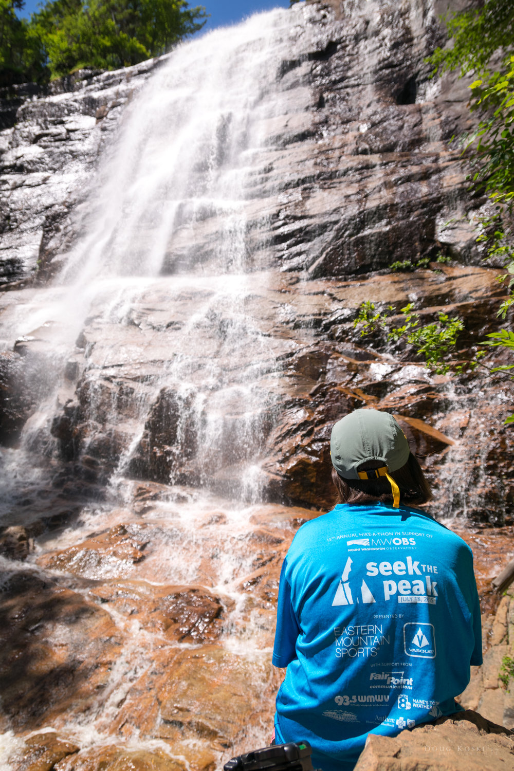 A beautiful reward to our climb! - The rain from the previous front had supplied ample water for our visit. We sat and enjoyed the falls for quite some time, but made sure to squeeze in a couple photo-ops as well.