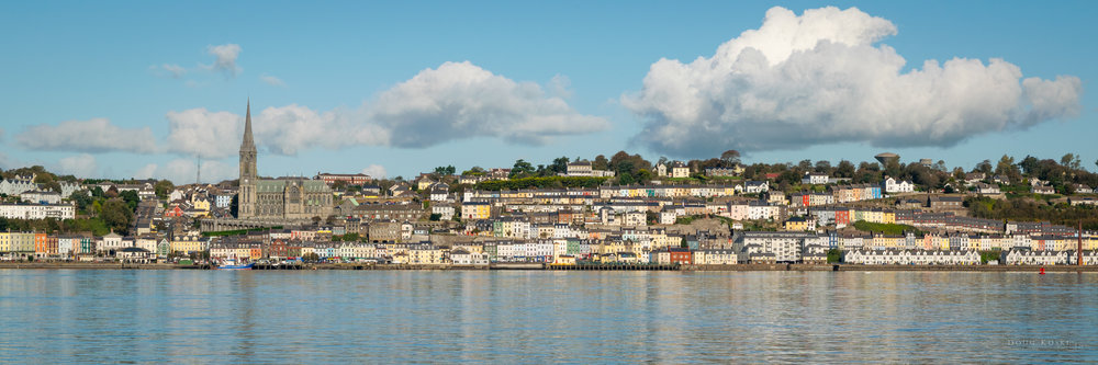 My panorama postcard image of Cobh, and one of my favorite shots from the trip.