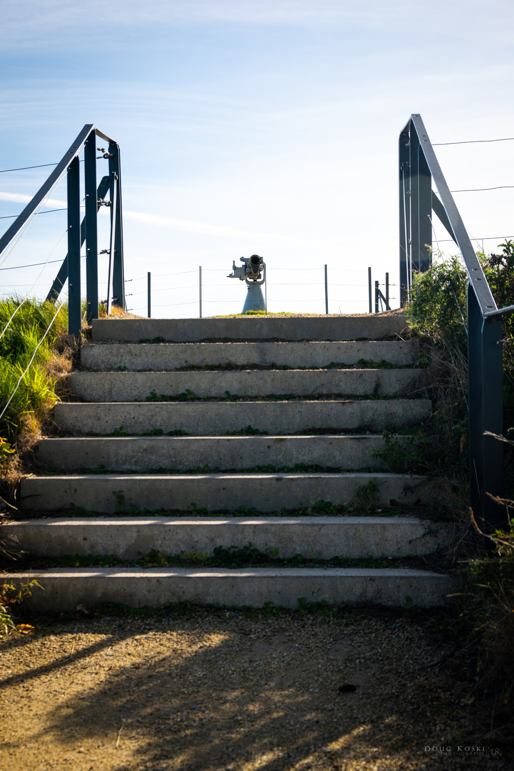 A few stairs to separate the armaments -
