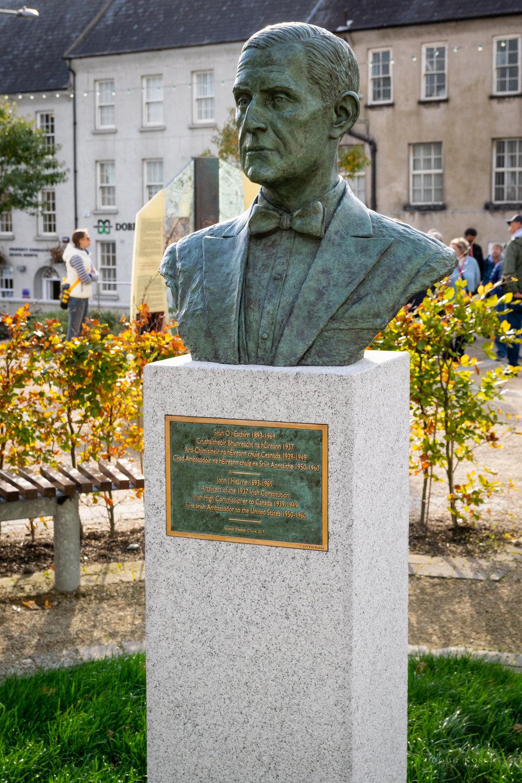 John J Hearne - 1893-1969Architect of the 1937 Irish ConsitutionIrish High Commissioner to Canada 1939-1949First Irish Ambassador to the United States 1950-1960Sculptor: Elizabeth O'Kane, 2017