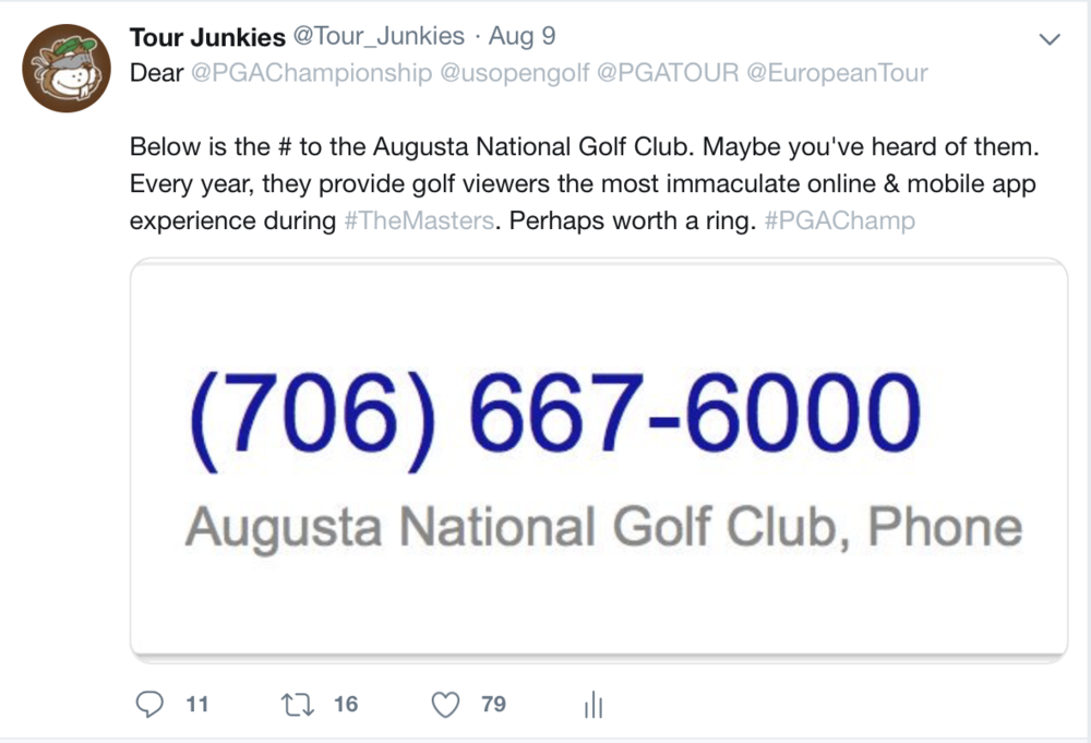 Highly likely to see this tweeted again come US Open time.