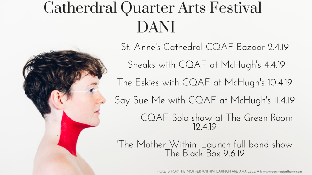 DANI is the Cathedral Quarter Arts Festival Artist in Residence this year. Photo by Sarah Pannasch.