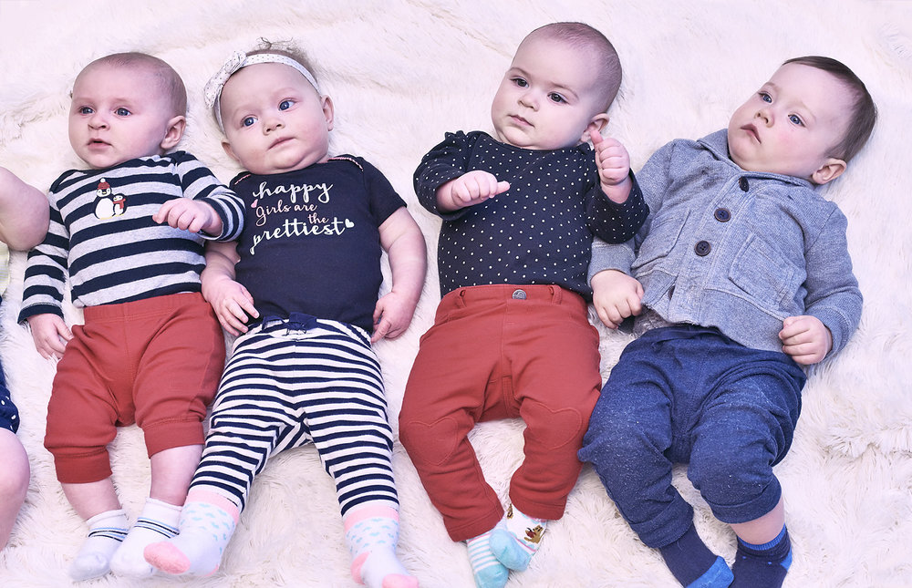 Our most recent group of TAPS Babies pose - amazed by their mommies singing Nursery Rhymes