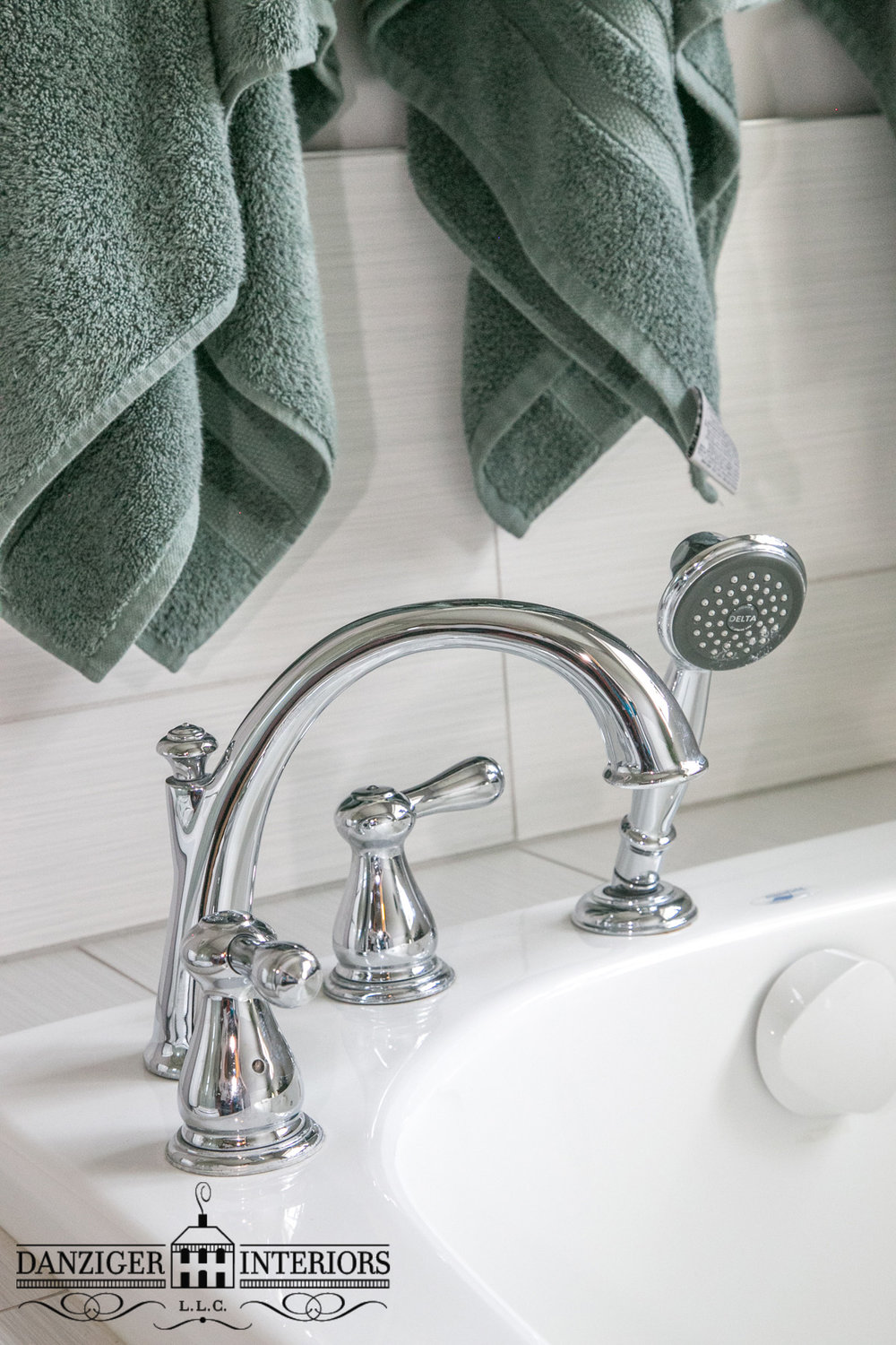 Polished Chrome Faucets and Hand-Held Shower Head