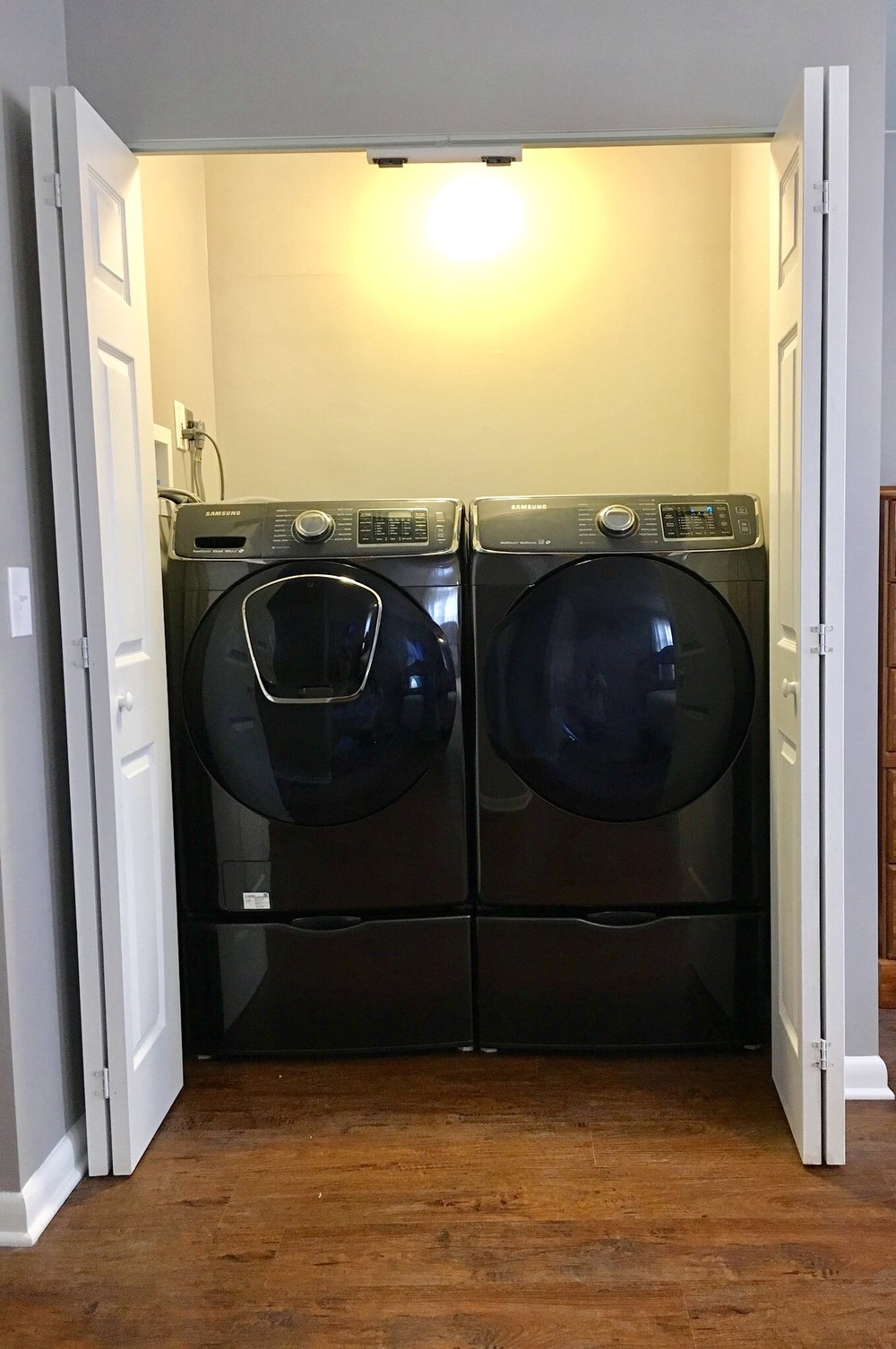 Washer and Dryer Moved Upstairs