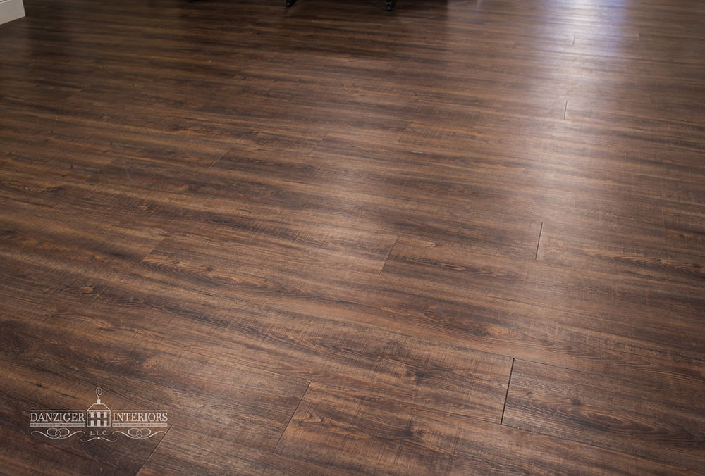 Luxury vinyl planks are 100% waterproof