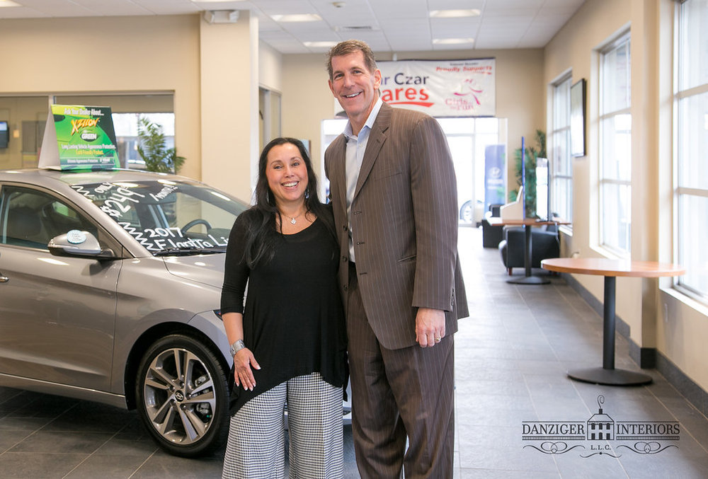 Owner of Colonial Hyundai in Doylestown, John Ashdale and Adèle Danziger