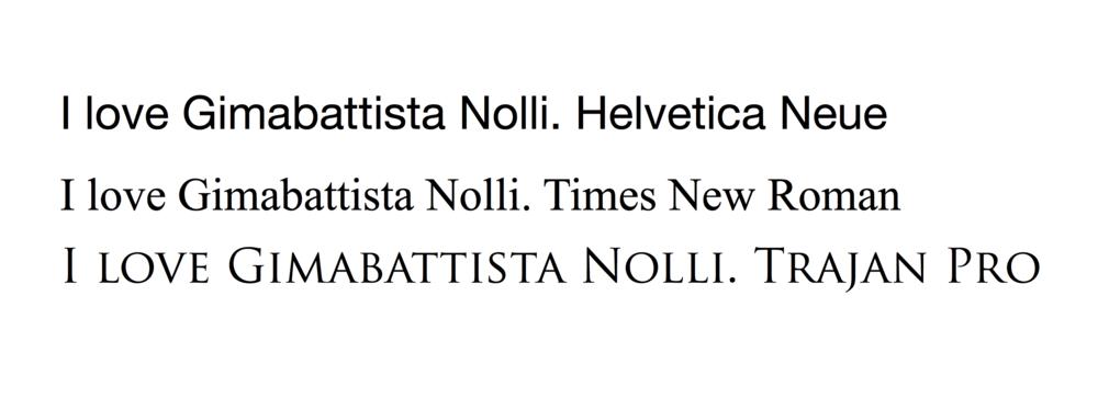 Fonts comparison