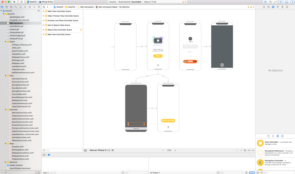 Xcode Project Main Storyboard