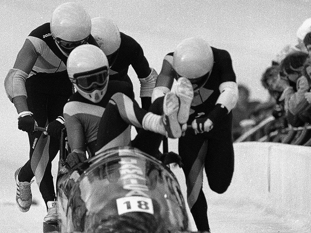 Jamaicas OL–team i bobslæde. Bryd med det forventede. Skab noget nyt. Gør det sammen.